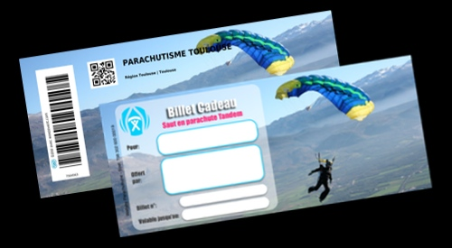 Billet Cadeau Parachutisme Toulouse
